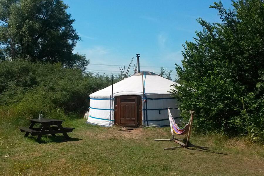 Yurt camping spirit