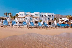 Aparthotel Akrogiali Beach strand