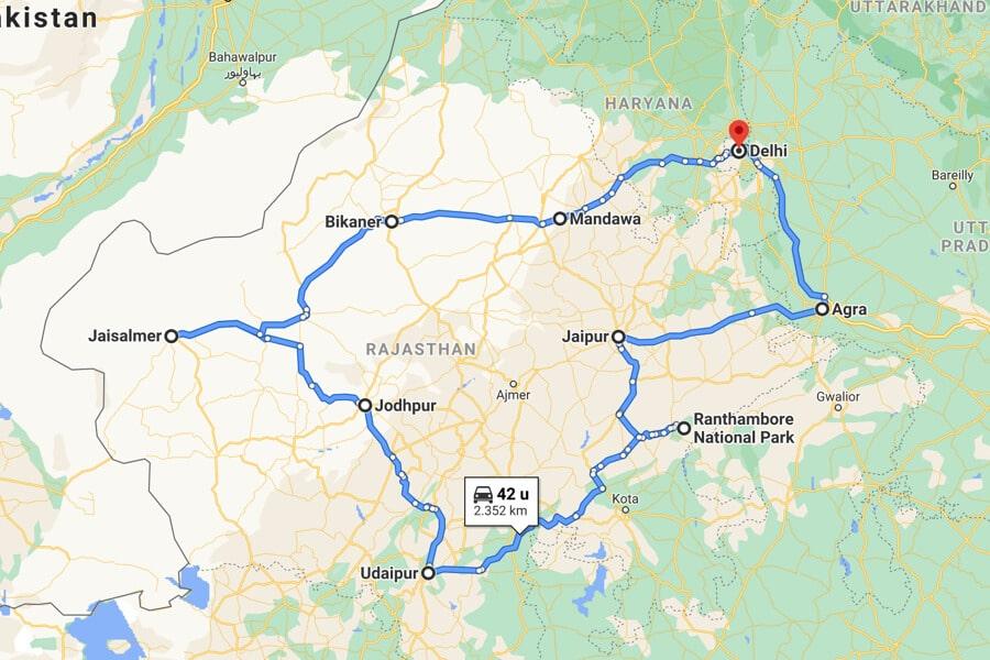 mooiste plekken Rajasthan route