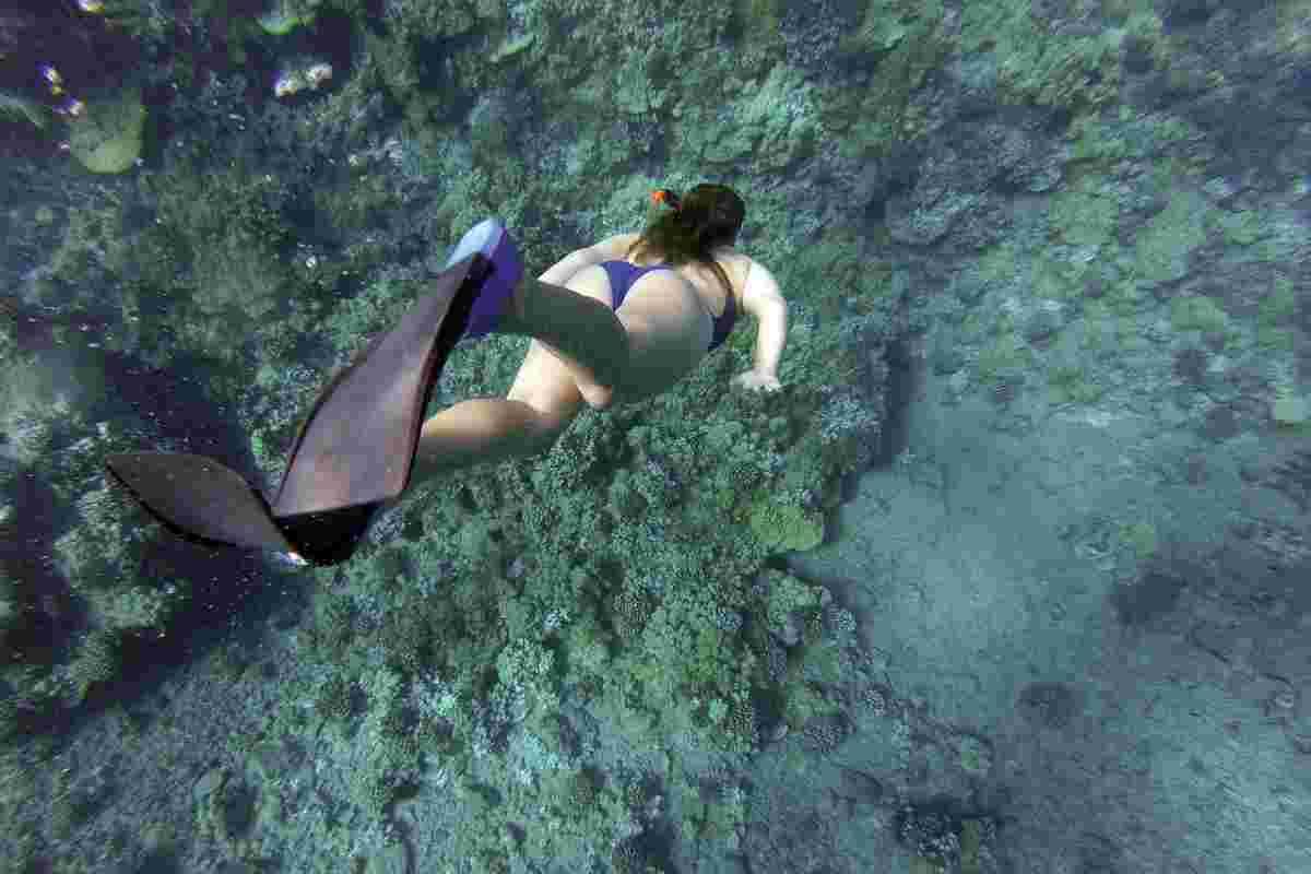 duiken met snorkelset