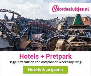 voordeeluitjes hotel + pretpark banner