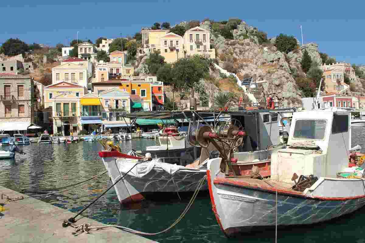 haventje in rhodos griekenland