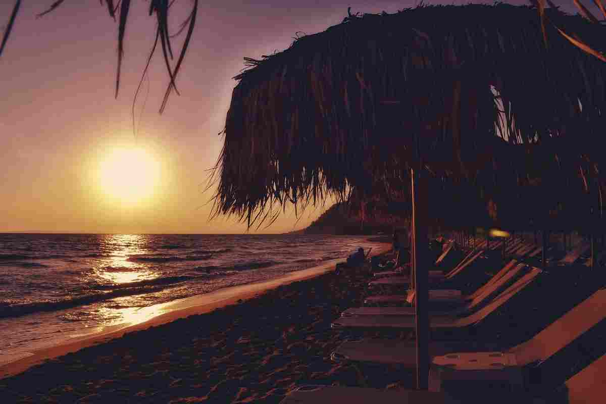 zonsondergang strand parga
